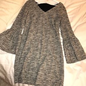 Tweed Bell Sleeve Dress